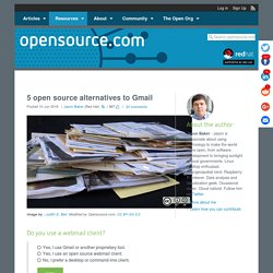 Open source webmail clients for browser-based email
