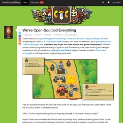 We've Open-Sourced Everything - CodeCombat Blog