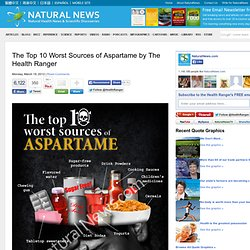 The Top 10 Worst Sources of Aspartame by The Health Ranger - NaturalNews.com