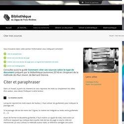 Citer mes sources – Bibliothèque du Cégep de Trois-Rivières