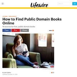 16 Sources for Free Books in the Public Domain