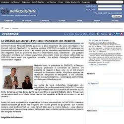 Le CNESCO aux sources d'une école championne des inégalités