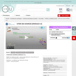 Citer ses sources (Module 4.3) - Compétences numériques