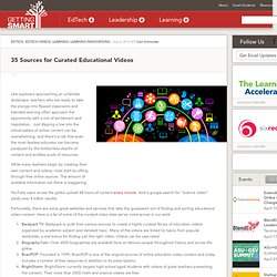 35 Sources for Curated Educational Videos