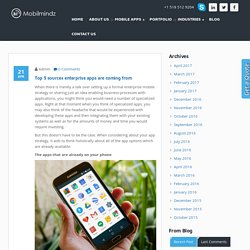 Top 5 sources enterprise apps are coming from