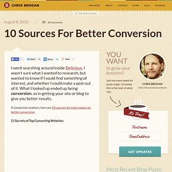 10 Sources For Better Conversion