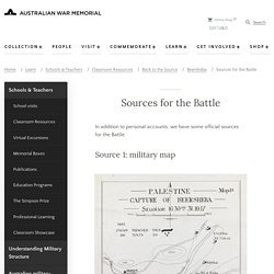 Sources for the Battle