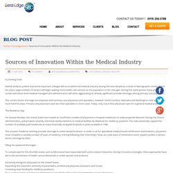 Sources of Innovation Within the Medical Industry