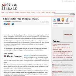 5 Sources for Free and Legal Images