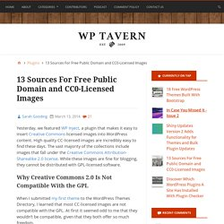 13 Sources For Free Public Domain and CC0-Licensed Images – WordPress Tavern