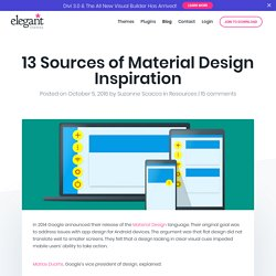 13 Sources of Material Design Inspiration