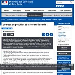 Sources de pollution et effets sur la santé