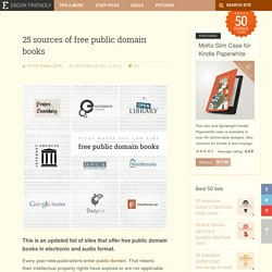 25 sources of free public domain books