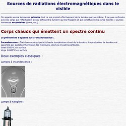 Sources de radiations