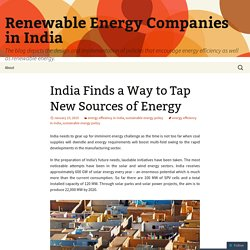 India Finds a Way to Tap New Sources of Energy