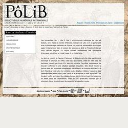 Sources du droit dans le ressort du Parlement de Flandre