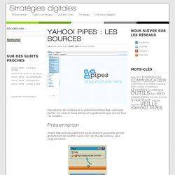 Yahoo! pipes : les sources