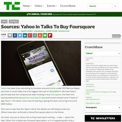 Yahoo In Talks To Buy Foursquare