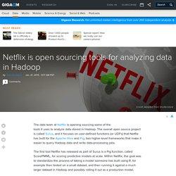 Netflix is open sourcing tools for analyzing data in Hadoop