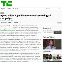 Eyeka raises €3 million for crowd-sourcing ad campaigns