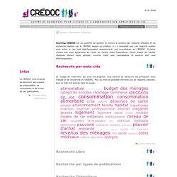 Sourcing CRÉDOC
