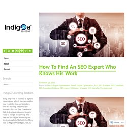 How To Find An SEO Expert Who Knows His Work – Indigoa Sourcing – Best Web design and Development Services Brisbane