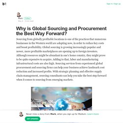 The importance of global sourcing and procurement