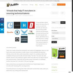 10 sourcing tools for IT recruiters