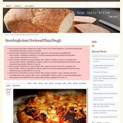 Sourdough-risen No-knead Pizza Dough