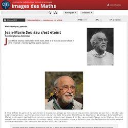Jean-Marie Souriau s'est éteint