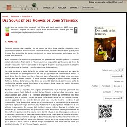 Des Souris et des Hommes de John Steinbeck (Libre Savoir)