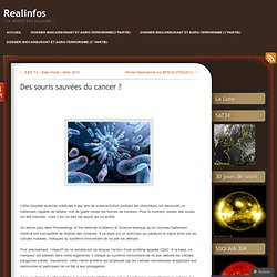 Des souris sauvées du cancer ?