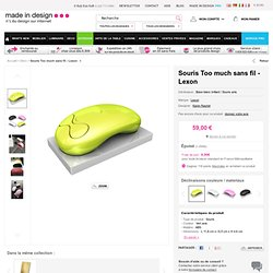 Too much - Souris sans fil Base blanc brillant / Souris anis | Souris sans fil rechargeable Lexon - Karim Rashid