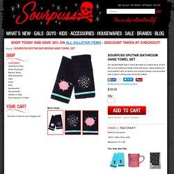 SOURPUSS SPUTNIK BATHROOM HAND TOWEL SET - Sourpuss Clothing