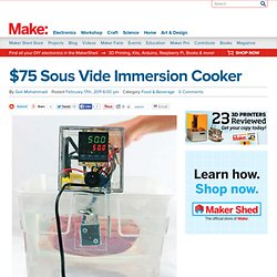 $75 Sous Vide Immersion Cooker