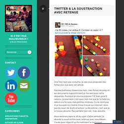 Twitter & la soustraction avec retenue