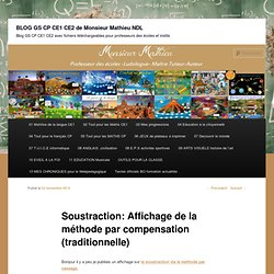 Soustraction: Affichage de la méthode par compensation (traditionnelle)