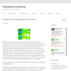 Physiological Computing : Lifestreams, body blogging and sousveillance