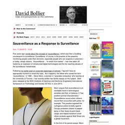Sousveillance as a Response to Surveillance