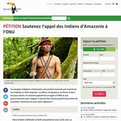 Soutenez l'appel des Indiens d'Amazonie à l'ONU