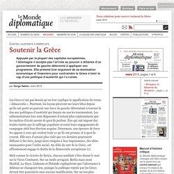Soutenir la Grèce, par Serge Halimi (Le Monde diplomatique, mars 2015)