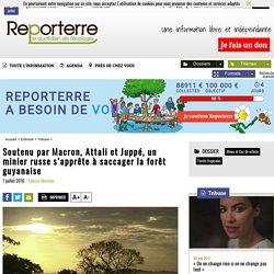 Soutenu par Macron, Attali et Juppé, un minier russe s'apprête à saccager la forêt guyanaise