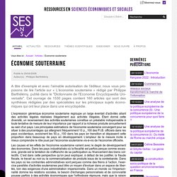 Économie souterraine — Sciences économiques et sociales