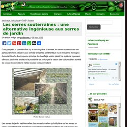 Les serres souterraines : une alternative ingénieuse aux serres de jardin - ecoloPop