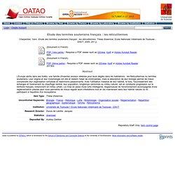 ENVT - 2005 - Etude des termites souterrains français : les réticulitermes