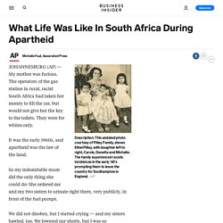 What Life Was Like In South Africa During Apartheid