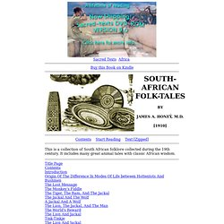 South-African Folk-Tales Index
