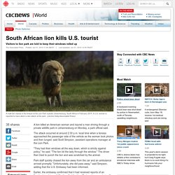 South African lion kills U.S. tourist