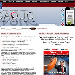 SAOUG - South African User Group