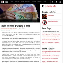 South Africans drowning in debt